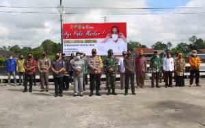 Polres Sukamara Apel Maskernisasi Ajak Masyarakat Patuhi Protokol Kesehatan