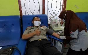 Serdik Purwanto Donor Darah Bantu Ketersediaan Stok di PMI
