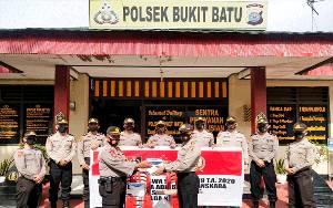 Siswa SIP Angkatan 49 Selesai Masa Latja di Polsek Bukit Batu
