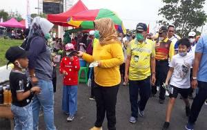CFD Perdana di Sport Center, Masyarakat Kobar Ditekankan Protokol Kesehatan