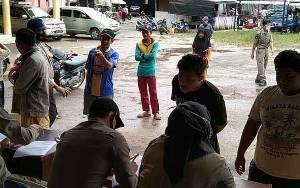 200-an Warga Terjaring Razia Tidak Gunakan Masker di Kecamatan Dusun Tengah
