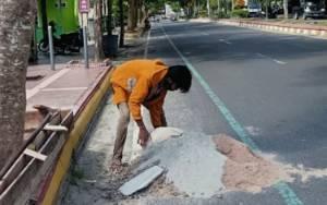 Banyak Laporan Jalan Rusak Dalam Kota, PUPR Kobar Lakukan Perbaikan Sementara
