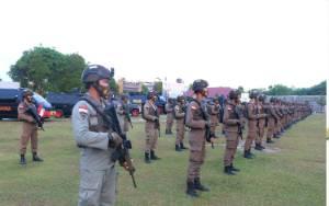 Kapolda Kalteng Sambut Kepulangan 100 Personel Brimob BKO Polda Papua