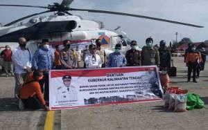Pemprov Kalteng Distribusikan Bantuan untuk Korban Banjir Gunakan Helikopter