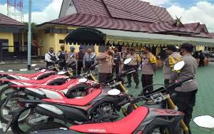 Direktur Samapta Polda Kalteng Cek Pengamanan KPU dan Bawaslu Seruyan