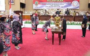 Wakil Gubernur Kalteng Hadiri Pelantikan Pengurus KPP Provinsi Kalteng Periode 2020-2024