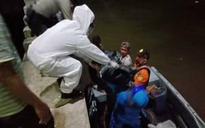 Pos AL Kumai Bersama Polri dan Basarnas Evakuasi Nelayan Meninggal Saat Melaut