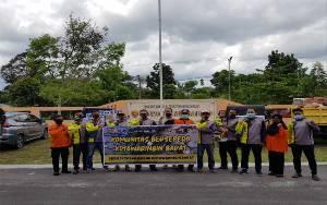 Komunitas Sepeda Salurkan Bantuan Melaui BPBD Kobar
