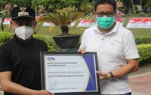 Pemko Palangka Raya Terima Penghargaan Muturitas SPIP Level 3