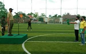 Kodim 1011 Kuala Kapuas Gelar Turnamen Mini Soccer Sambut HUT ke 75 TNI