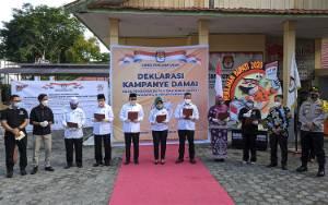 KPU Bersama Paslon Pilkada Kotim Gelar Deklarasi Kampanye Damai