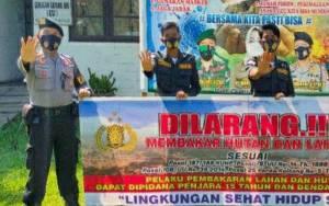 Personel Polsek Kapuas Hilir Aktif Beri Imbauan Cegah Karhutla