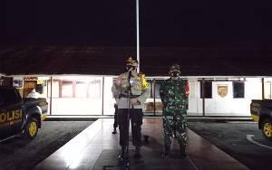 Kapolres Barsel Bersama Dandim Pimpin Patroli Berskala Besar Pastikan Kamtibmas dan Protokol Kesehatan