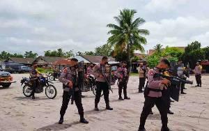 Personel Satbrimob Polda Kalteng Intensifkan Latihan Pengamanan Pilkada