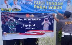 Polres Katingan Sebar Banner Panglima TNI dan Kapolri Berisi Ajakan ini