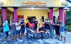 Polsek Banama Tingang Tangkap Pelaku Curanmor di Desa Bawan