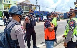 Operasi Yustisi Polda Kalteng Masih Ada Masyarakat Langgar Protokol Kesehatan