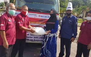 Dinsos PMD Sukamara Salurkan Bantuan Beras untuk KPM