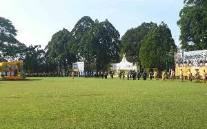 Upacara HUT ke 61 Kabupaten Kotawaringin Barat Berlangsung Sederhana
