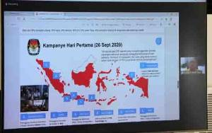 Bawaslu Sampaikan Hasil Pengawasan dan Penindakan Protokol Kesehatan di Awal Masa Kampanye