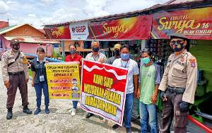 Polsek Sabangau Ajak Warga Taati Prokes Wujudkan Pilkada Damai