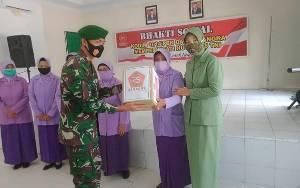 Peringati HUT TNI ke - 75, Kodim 1014 Pangkalan Bun Adakan Silaturahmi Bersama Purnawirawan dan Warakauri
