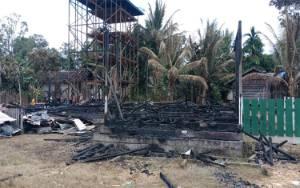 Balai Desa Tumbang Bahan Terbakar