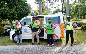 Satlantas Polresta Palangka Raya Rangkul Komunitas Ojek Online