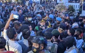 Sebelum Aksi Demo Dibubatkan, Kapolres Kotim Sempat Ingatkan Batas Waktu Aksi Hingga Pukul 18.00 WIB