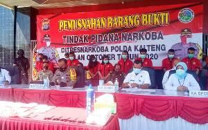 Narkoba di Kalteng Dipasok dari Pontianak dan Banjarmasin