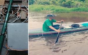 Tangkap Ikan Dengan Setrum, Lelaki Ini Diciduk Satpolair Polres Kobar