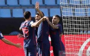 Suarez Girang Cetak Gol dan Bantu Atletico Menang