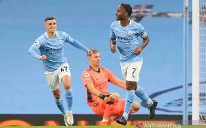 Manchester City Vs Arsenal, Sterling Cetak Gol Semata Wayang