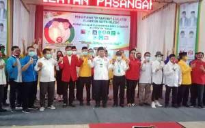 Tim Pemenangan Sugianto Sabran - Edy Pratowo Barito Selatan Dikukuhkan
