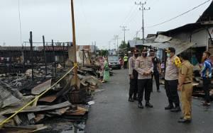 Polres Kotim Datangkan Tim Puslabfor Surabaya Ungkap Kasus Kebakaran Pasar Sejumput
