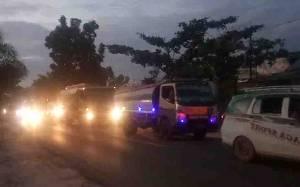 Antrean Panjang Kendaraan di Jalan Jenderal Sudirman Sampit Mengular hingga Malam Hari