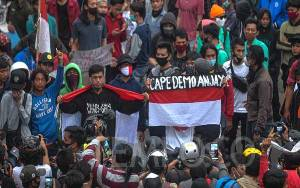 Demo Omnibus Law, TNI Kawal Pulang Sisa Massa