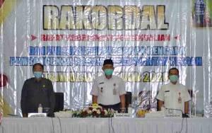 Sekda Kalteng Hadiri Rakordal Evaluasi Pelaksanaan Pembangunan