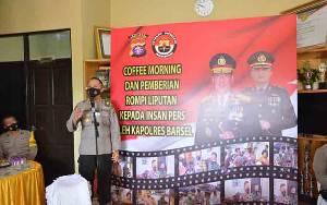 Kapolres Barito Selatan Pamitan dengan Awak Media