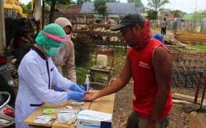 30 Pekerja Pembangunan Paviliun RS Bhayangkara Jalani Rapid Test