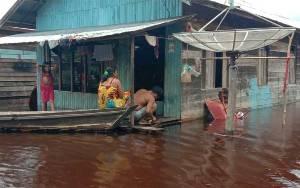 Ketinggian Banjir di Desa Hanjalipan Sudah Capai 1 Meter