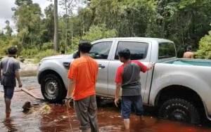 Jalan 2 Desa di Kapuas Putus Akibat Banjir