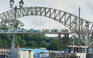Uji Coba Kekuatan, Jembatan Muara Teweh - Jingah Dirancang untuk Tahan Beban 110 Ton