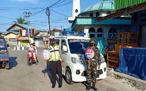 TNI - Polri Terus Bersinergi Ingatkan Protokol Kesehatan