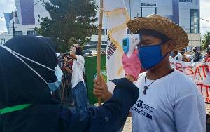 Dalam Sehari, Dua Kali Mahasiswa Unjuk Rasa di Palangka Raya