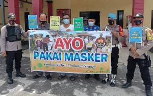 Polsek Banama Tingang Ingatkan Masyarakat Gunakan Masker