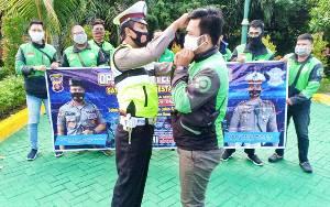 Polresta Palangka Raya Ingatkan Pentingnya Ojol Jadi Pelopor Keselamatan Berlalu Lintas