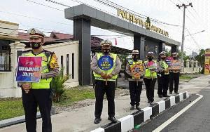 Polisi Ajak Patuhi Lalu Lintas dan Disiplin Protokol Kesehatan
