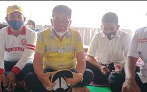 H.M Ruslan AS berdialog dengan masyarakat Kecamatan Kumai, Selasa,3 November 2020
