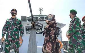 Komandan Lanal Banjarmasin Sambangi Pos TNI AL Samuda